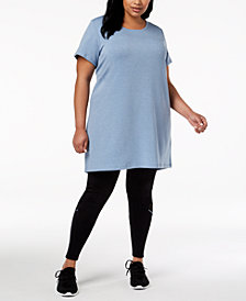Ideology Plus Size V-Back Tunic, Created for Macy's