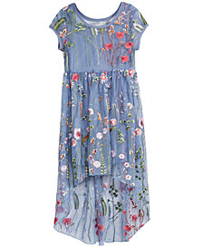 Bonnie Jean Big Girls Embroidered Layered-Look Dress