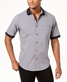 Alfani Men's Contrast Collar Shirt, Created for Macy's