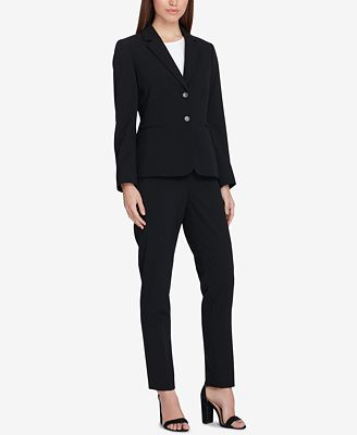 Tahari Asl Two Button Blazer Regular Petite Jackets Women