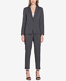 Tahari ASL One-Button Cuffed Pantsuit, Regular & Petite