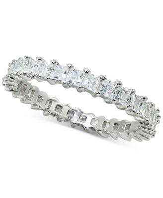 Cubic Zirconia Stackable Princess Eternity Band, Created for Macy's