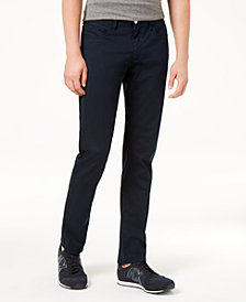 A|X Armani Exchange Men's Straight Fit Stretch Navy Pants