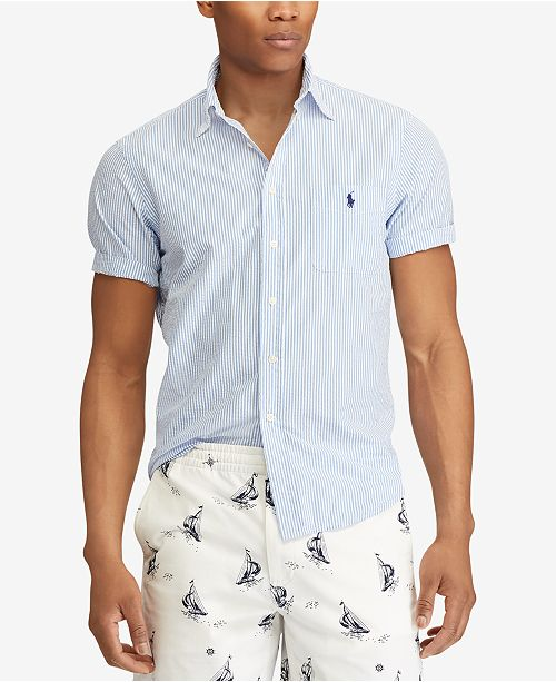 Polo Ralph Lauren Men's Classic Fit Seersucker Shirt