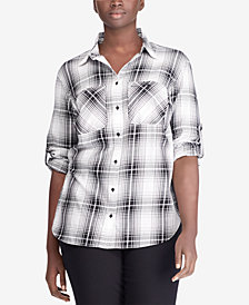 Lauren Ralph Lauren Plus Size Twill Cotton Shirt