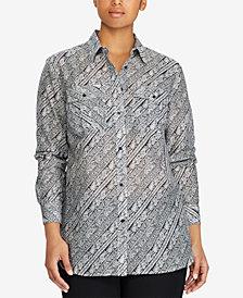 Lauren Ralph Lauren Plus Size Printed Shirt