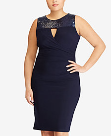 Lauren Ralph Lauren Plus Size Sequin Dress