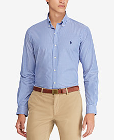 Polo Ralph Lauren Men's Slim-Fit Striped Cotton Shirt