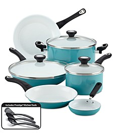 PURECOOK 12-Pc. Ceramic Non-Stick Cookware Set