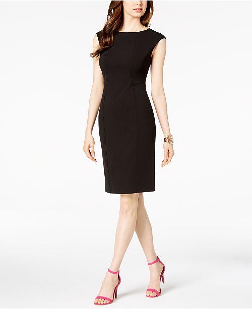 a32326a239c2 Vince Camuto Scuba Crepe Sheath Dress   Reviews - Dresses ...