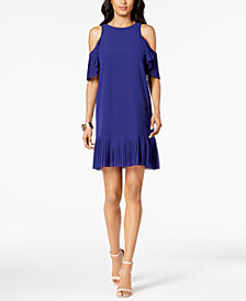 Vince Camuto Cold-Shoulder Shift Dress