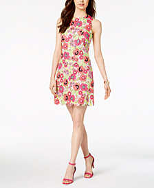 Pappagallo Printed Scalloped Shift Dress