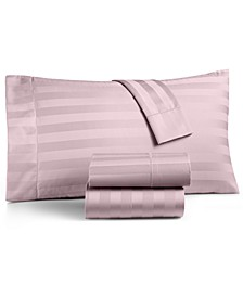 "1.5"" Stripe Extra Deep Pocket California King 4-Pc Sheet Set, 550 Thread Count 100% Supima Cotton , Created for Macy's"