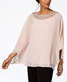 MSK Embellished Cape Top
