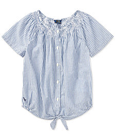 Polo Ralph Lauren Big Girls Striped Cotton Top