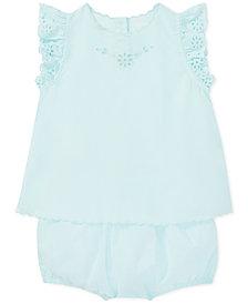 Polo Ralph Lauren Baby Girls Cotton Eyelet Top & Bloomer Set