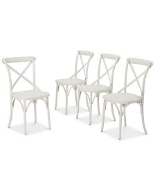 Sophia Outdoor Dining Chairs (Set of 4), Quick Ship