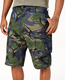 G-Star RAW Men's Raw Denim Camo Rovic Relaxed Stretch Cargo Shorts
