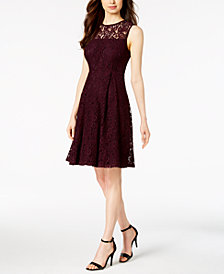 Calvin Klein Sleeveless A-Line Lace Dress