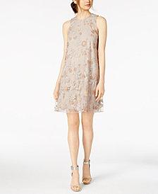 Calvin Klein Embroidered Trapeze Dress