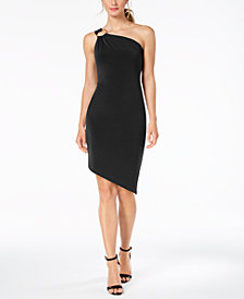 Calvin Klein O-Ring One-Shoulder Dress
