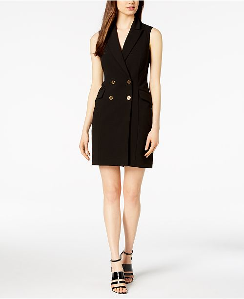 4e0cacc365a72 Calvin Klein Double-Breasted Blazer Dress & Reviews - Dresses ...