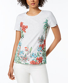 Tommy Hilfiger Honolulu Garden Printed T-Shirt, Created for Macy's