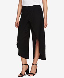 CeCe Cropped Split-Leg Wrap Pants