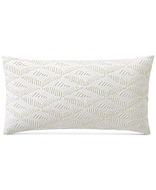 """CLOSEOUT! Honeycomb 14"""" x 24"""" Decorative Pillow, Created for Macy's"""