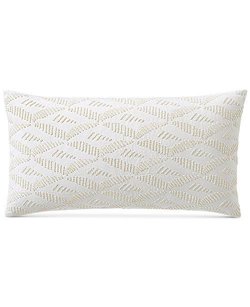 """Hotel Collection CLOSEOUT! Honeycomb 14"""" x 24"""" Decorative Pillow, Created for Macy's"""