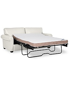 "Orid 77"" Full Leather Sleeper, Created for Macy's"