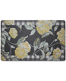 "Laura Ashley Hydrangea Anti-Fatigue Gelness 20"" x 32"" Kitchen Mat"
