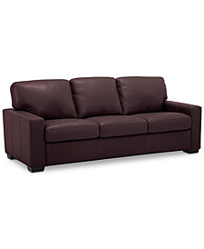 "Ennia 82"" Leather Sofa, Created for Macy's"