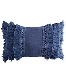 "Home 12"" x 18"" Fringe Decorative Pillow"