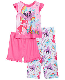 My Little Pony Toddler Girls 3-Pc. Friendship Pajama Set