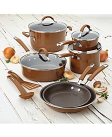 Cucina Hard Enamel Nonstick 12-Piece Cookware Set