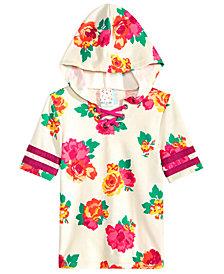 Belle Du Jour Big Girls Floral-Print Hooded Lace-Up Top