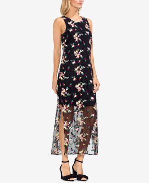Vince Camuto Embroidered Mesh Maxi Dress 6382538