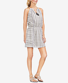 Vince Camuto Cotton Tassel-Tie Dress