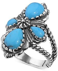 Turquoise Cluster Ring (3-9/10 ct. t.w.) in Sterling Silver
