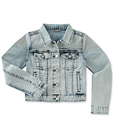 Calvin Klein Big Girls Bleached Denim Jacket