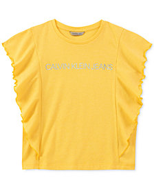 Calvin Klein Big Girls Ruffle T-Shirt