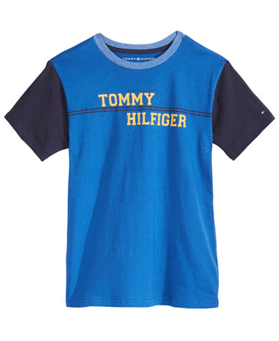 49829589971ee Tommy Hilfiger Big Boys Leo Graphic-Print Cotton T-Shirt - Shirts ...