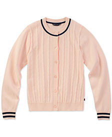 Tommy Hilfiger Big Girls Mini-Cable Knit Cardigan