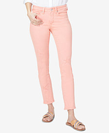 NYDJ Sheri Slim Ankle Star Patch Jeans