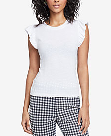 RACHEL Rachel Roy Tie-Back T-Shirt, Created for Macy's