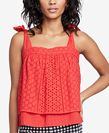 RACHEL Rachel Roy Sabine Cotton Eyelet Top, Created for Macy's