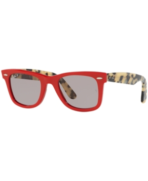 a66e861bc92 Ray Ban Standard Classic Wayfarer 50Mm Polarized Sunglasses - Red In Red  Grey Polar