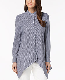 Anne Klein Cotton Asymmetrical Shirt