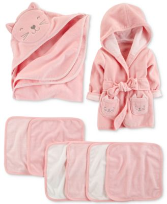 Baby Girls Hooded Cat Cotton Towel